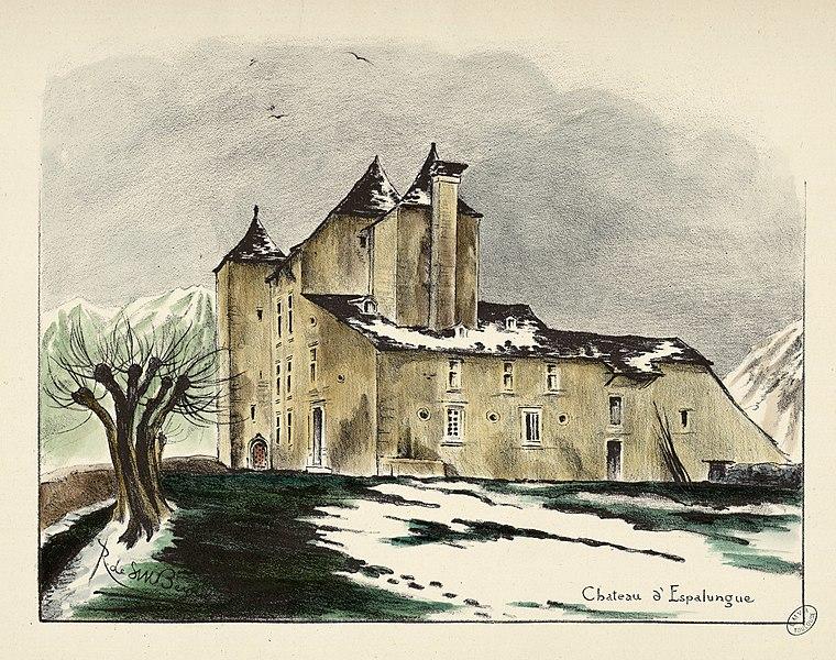 Photo du Monument Historique Château d'Espalungue situé à Laruns