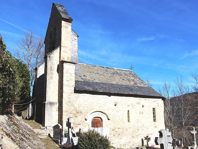 Photo du Monument Historique Eglise d'Ilhan situé à Bordères-Louron