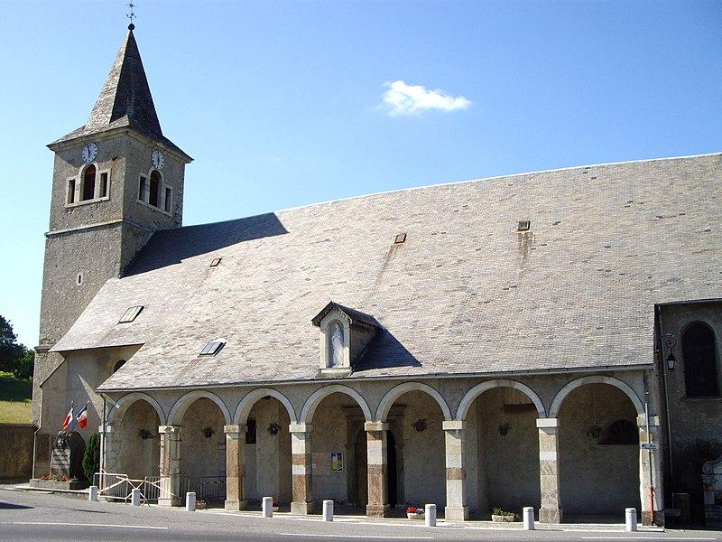 Photo du Monument Historique Eglise Notre-Dame-de-l'Assomption de Sainte-Marie-de-Campan situé à Campan