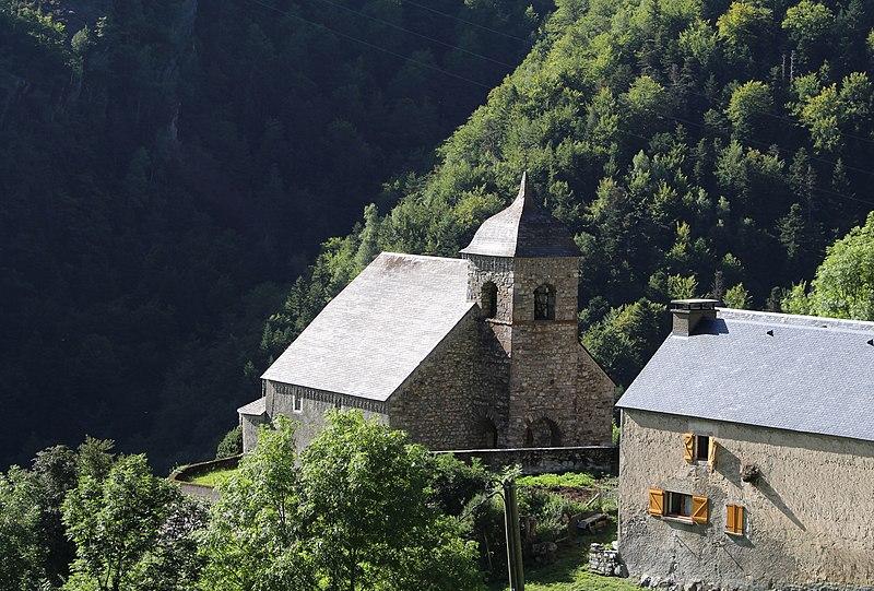 Photo du Monument Historique Église Saint-Pierre aux Liens d'Eget situé à Aragnouet