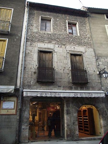 Photo du Monument Historique Maison Berjoan Léon situé à Villefranche-de-Conflent