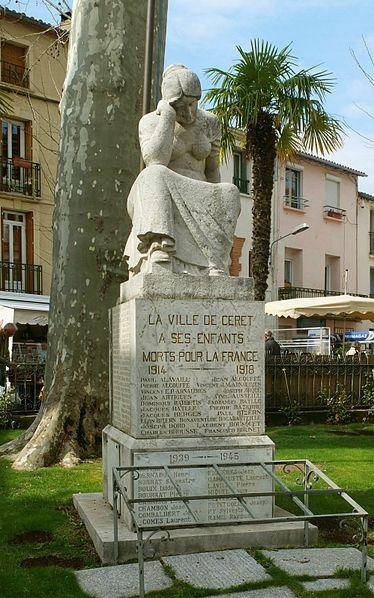 Photo du Monument Historique Monument aux morts situé à Céret