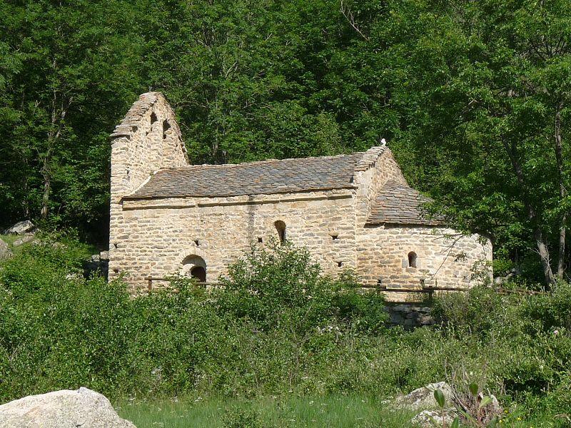 Photo du Monument Historique Ancienne chapelle Saint-Martin d'En Valls situé à Angoustrine-Villeneuve-des-Escaldes