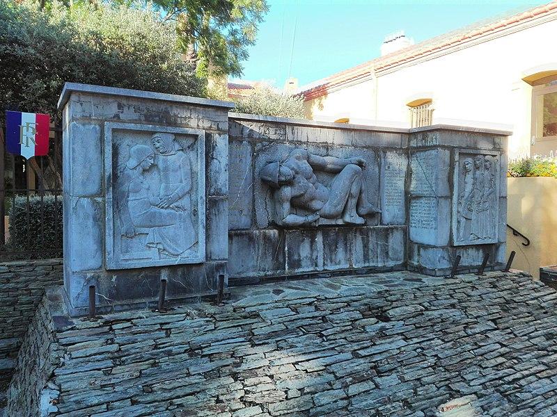 Photo du Monument Historique Monument aux morts de la guerre de 1914-1918 situé à Banyuls-sur-Mer