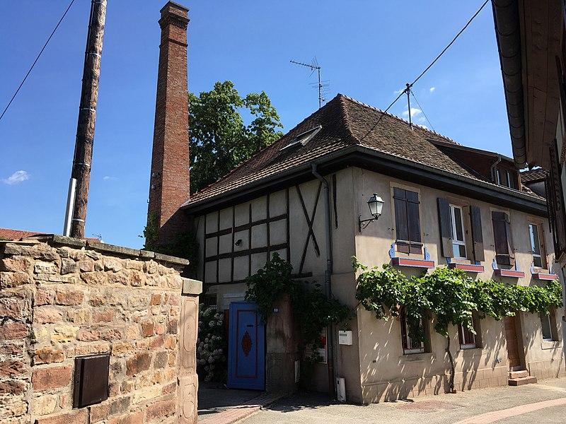 Photo du Monument Historique Ancienne bonneterie Allenbach situé à Andlau
