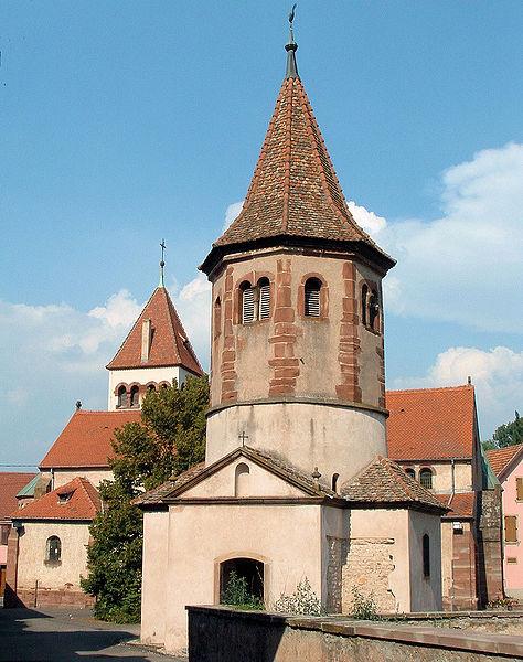 Photo du Monument Historique Ancien baptistère dit chapelle Saint-Ulrich situé à Avolsheim