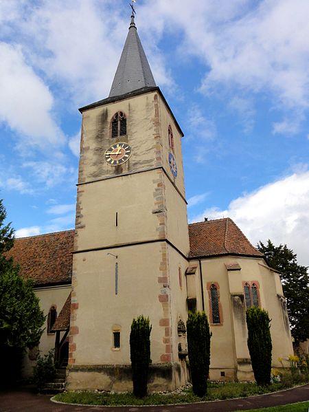 Photo du Monument Historique Eglise protestante (ancienne église catholique) situé à Baldenheim
