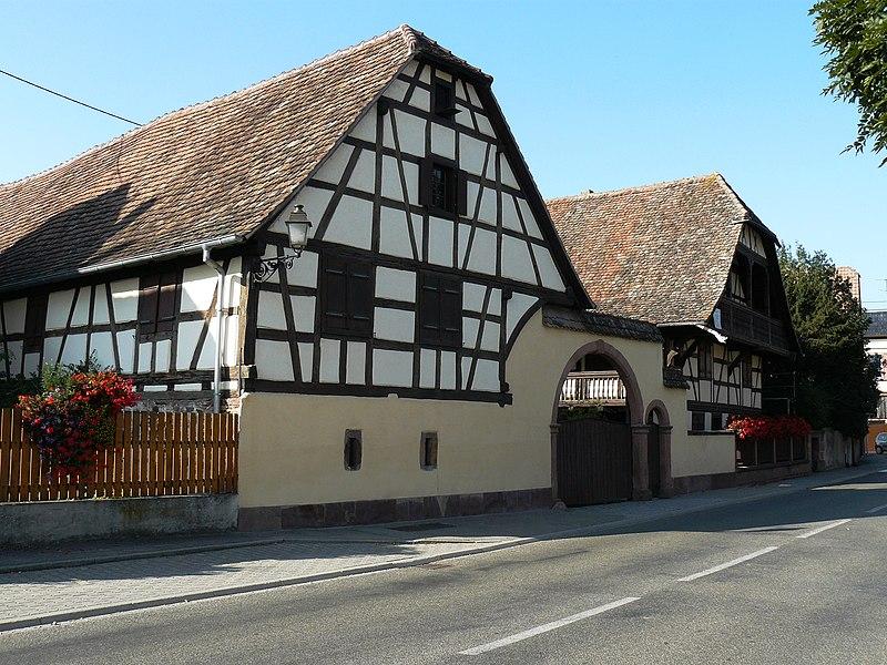 Photo du Monument Historique Immeuble Boegler situé à Baldenheim