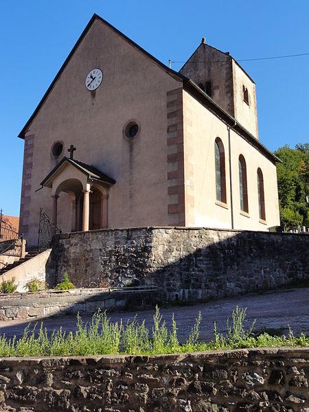 Photo du Monument Historique Eglise protestante de Fouday situé à Fouday