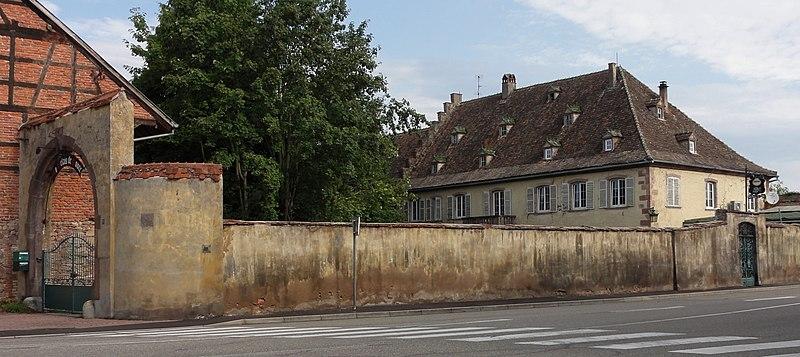 Photo du Monument Historique Ancien relais de poste à chevaux situé à Benfeld