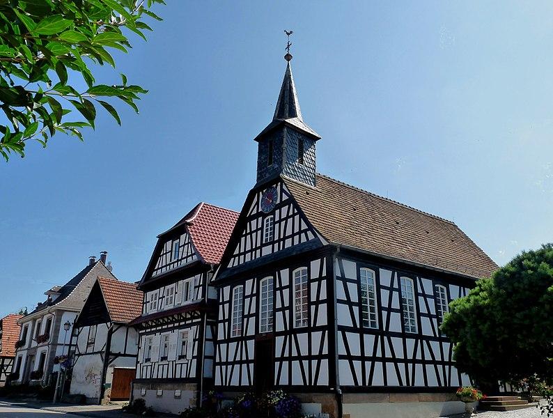 Photo du Monument Historique Eglise protestante de Kuhlendorf situé à Betschdorf