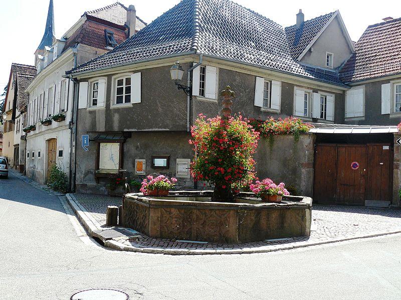 Photo du Monument Historique Fontaine situé à Blienschwiller