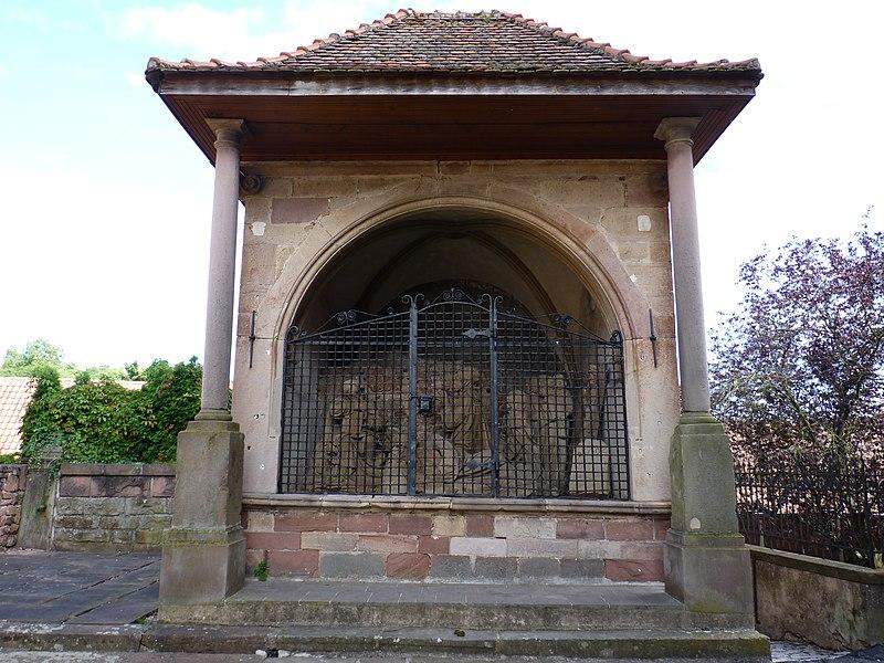 Photo du Monument Historique Chapelle avec Mont des Oliviers situé à Boersch