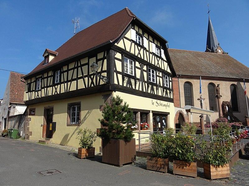 Photo du Monument Historique Corps de garde et maison situé à Boersch