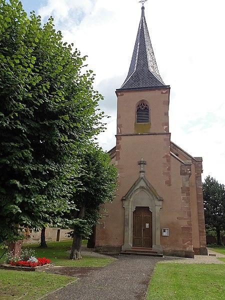 Photo du Monument Historique Eglise catholique Saint-Etienne situé à Boofzheim