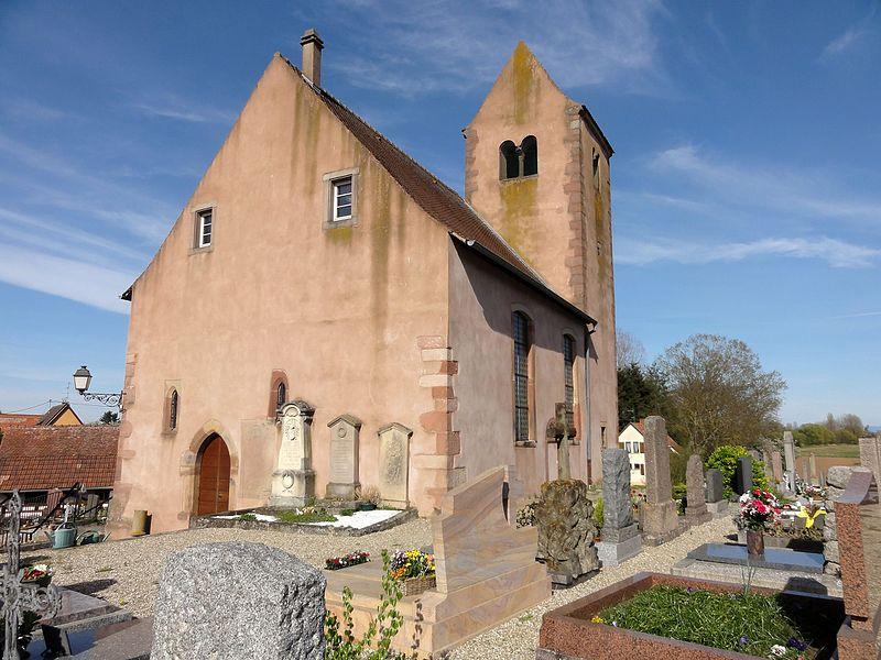 Photo du Monument Historique Eglise paroissiale simultanée Saint-Arbogast situé à Bourgheim