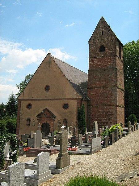 Photo du Monument Historique Eglise catholique Saint-Léger situé à Bouxwiller