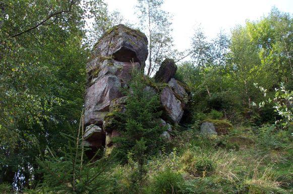 Photo du Monument Historique Ruines du château Salm situé à La Broque