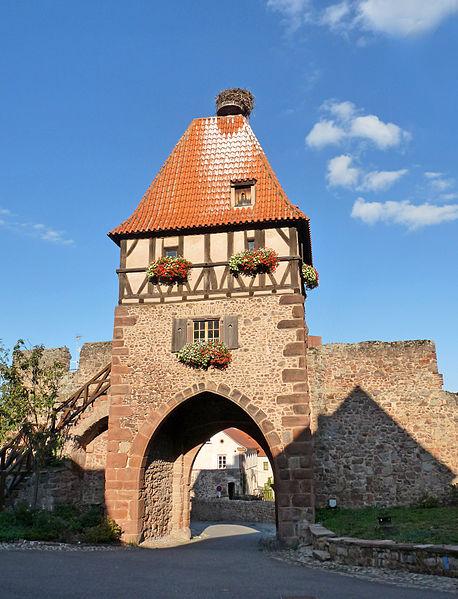 Photo du Monument Historique Restes du château situé à Châtenois