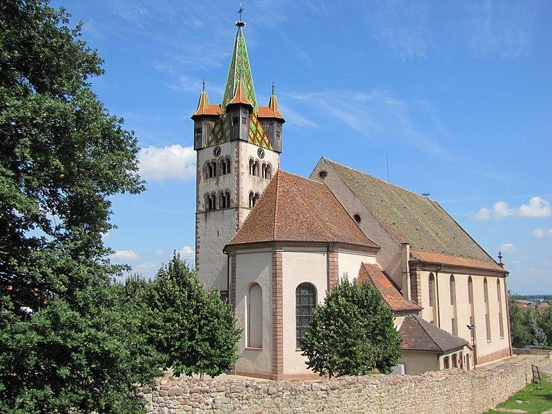 Photo du Monument Historique Eglise catholique Saint-Georges situé à Châtenois