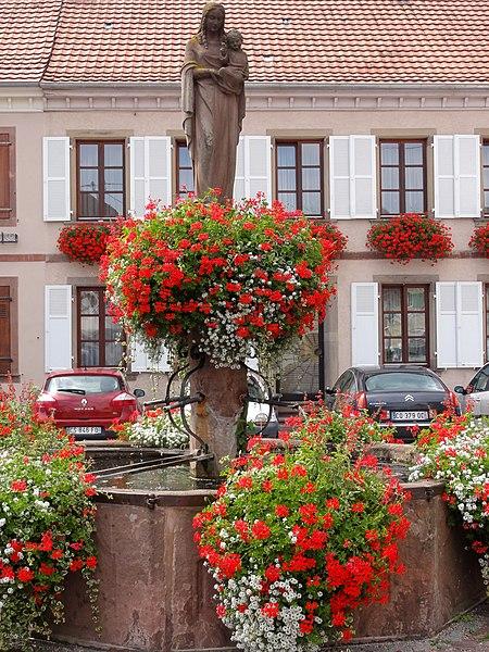 Photo du Monument Historique Fontaine situé à Châtenois
