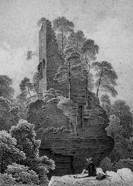 Photo du Monument Historique Château de Hohenfels : vestiges en totalité situé à Dambach