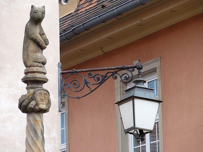 Photo du Monument Historique Fontaine dite Stockbrunnen situé à Dambach-la-Ville