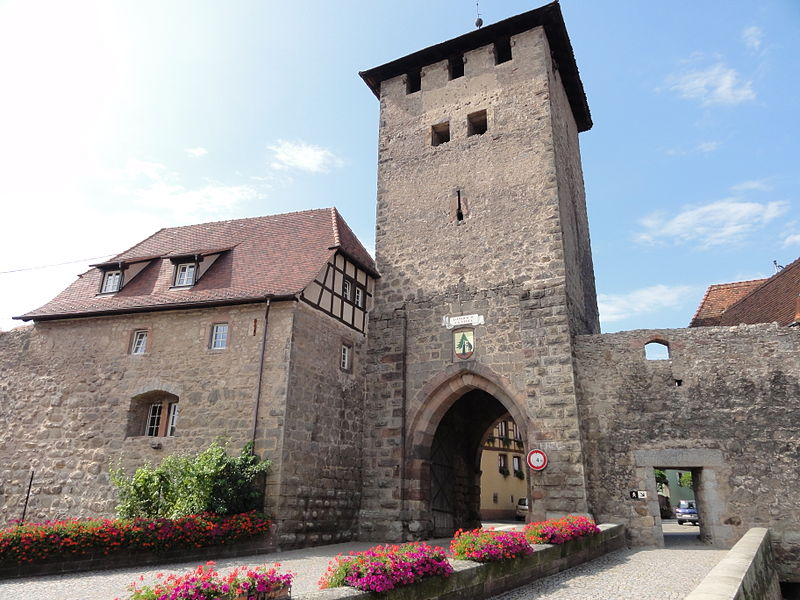 Photo du Monument Historique Vestiges des anciennes fortifications situé à Dambach-la-Ville