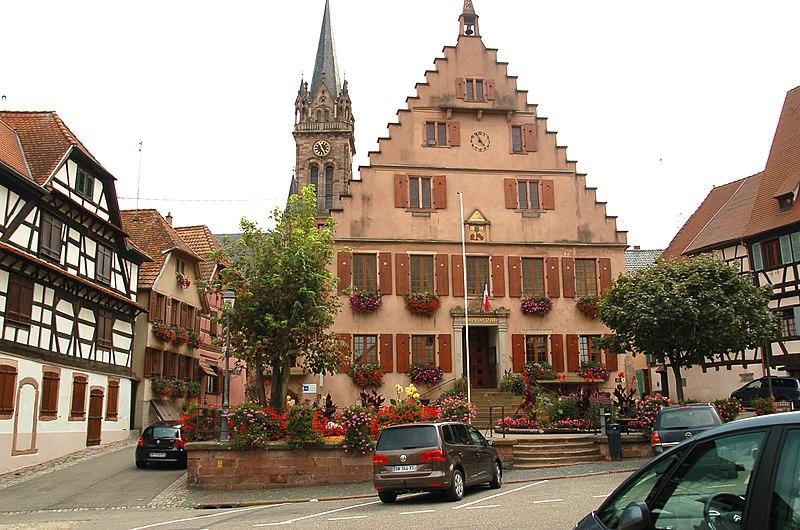 Photo du Monument Historique Hôtel de ville situé à Dambach-la-Ville