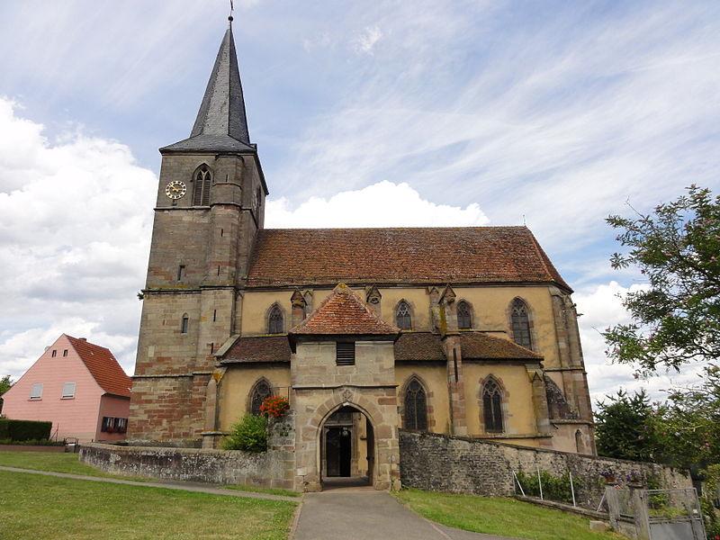 Photo du Monument Historique Eglise protestante situé à Domfessel
