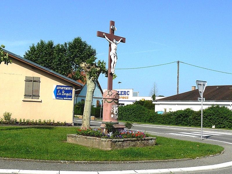 Photo du Monument Historique Crucifix situé à Duttlenheim