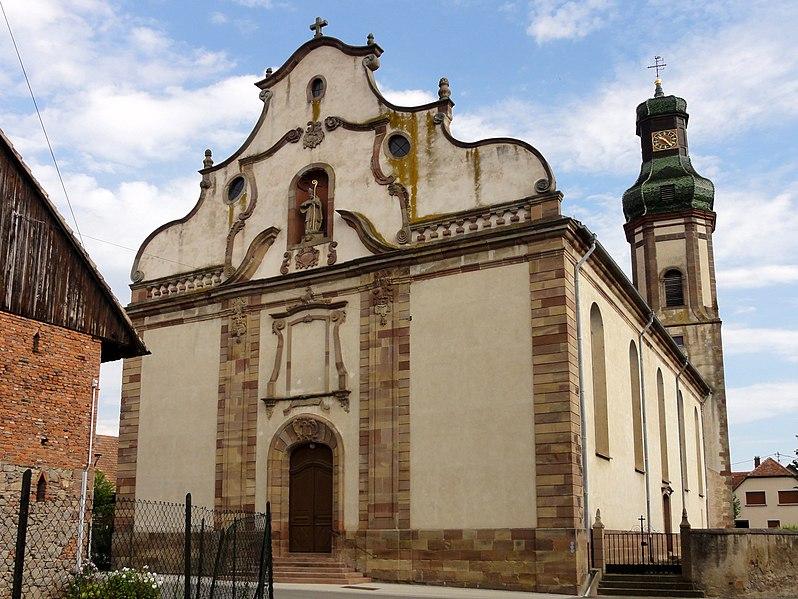 Photo du Monument Historique Eglise Saint-Martin situé à Ebersheim