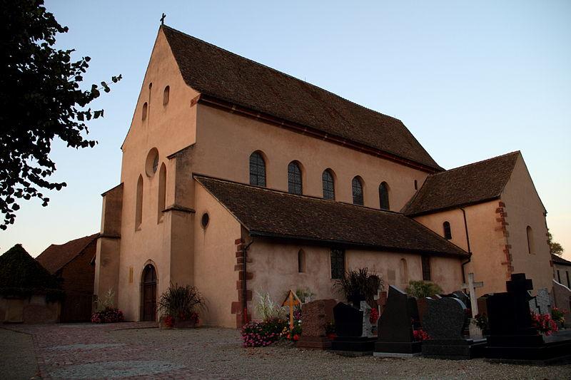 Photo du Monument Historique Eglise Sainte-Trophime et quatre statues en bois sculptées situé à Eschau