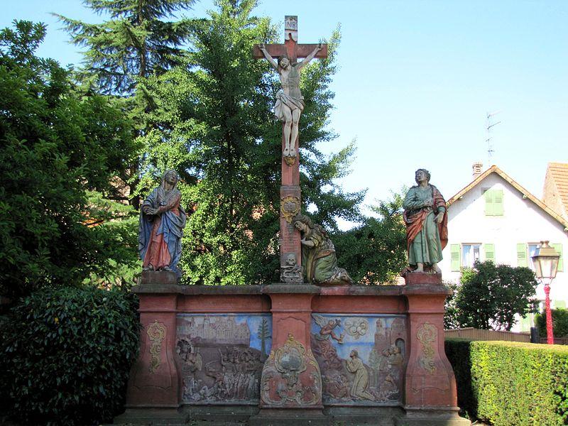Photo du Monument Historique Calvaire daté de 1770 situé à Geispolsheim