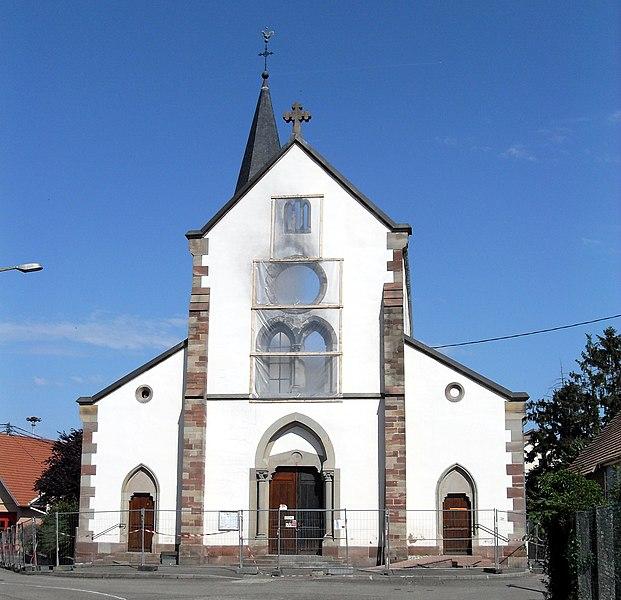 Photo du Monument Historique Eglise protestante situé à Gerstheim