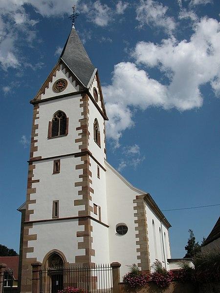 Photo du Monument Historique Eglise catholique Saint-Martin situé à Gresswiller