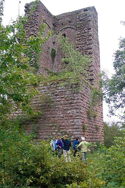 Photo du Monument Historique Ruines du château du Grand-Geroldseck situé à Haegen