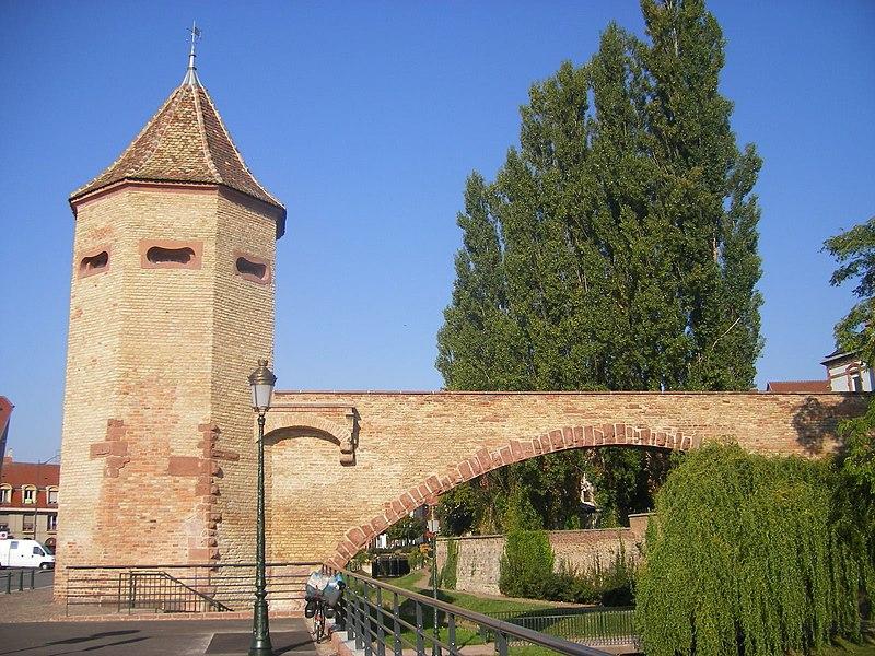 Photo du Monument Historique Tour des Pêcheurs situé à Haguenau