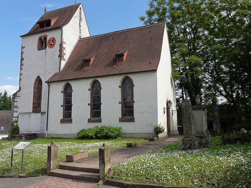 Photo du Monument Historique Eglise protestante situé à Hangenbieten