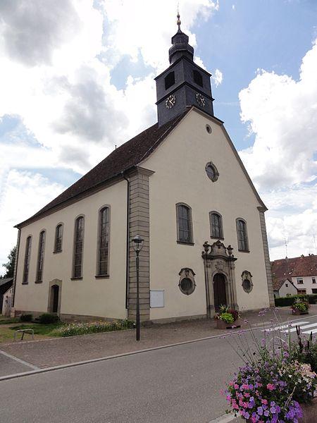 Photo du Monument Historique Eglise protestante situé à Harskirchen
