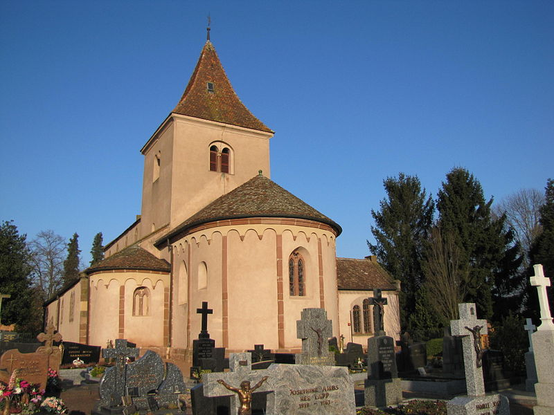 Photo du Monument Historique Eglise Saint-Pierre-et-Paul situé à Hohatzenheim