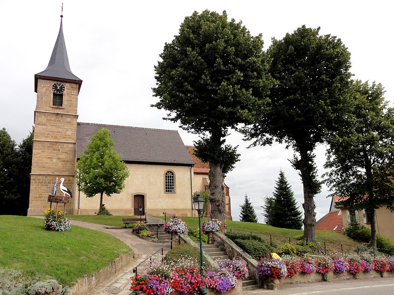 Photo du Monument Historique Eglise simultanée Saint-Jean-Baptiste de Hohwiller situé à Soultz-sous-Forêts