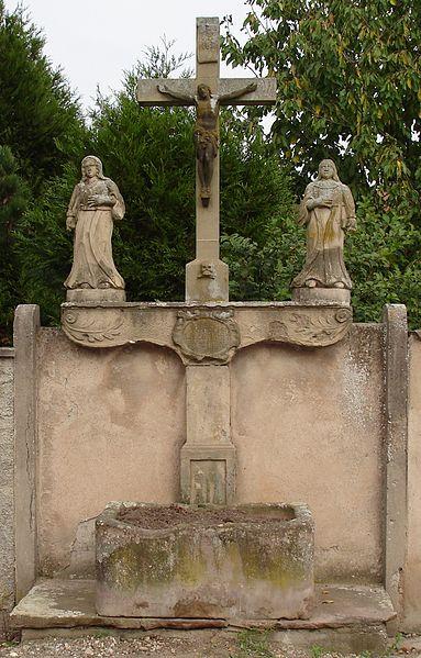 Photo du Monument Historique Croix datée de 1739 situé à Huttenheim