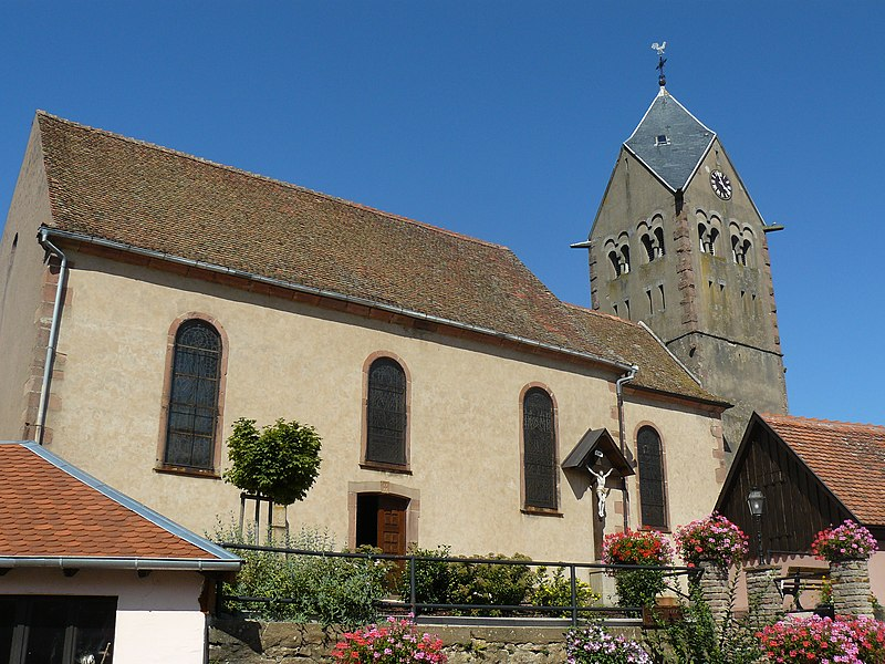 Photo du Monument Historique Eglise Saint-Remi situé à Itterswiller