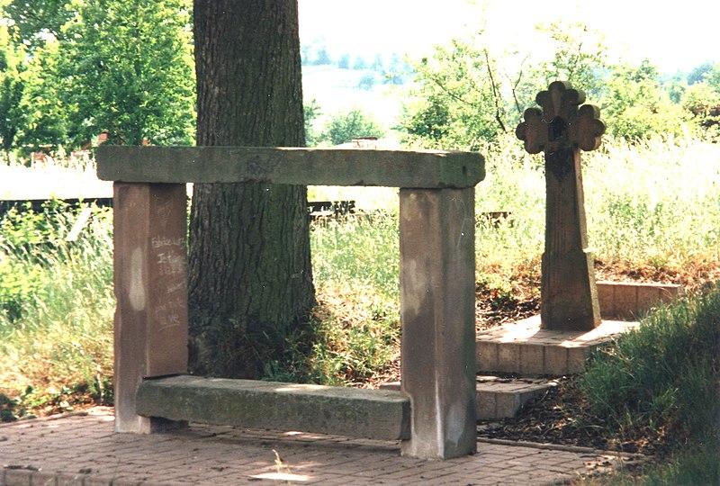 Photo du Monument Historique Banc-reposoir napoléonien situé à Knoersheim