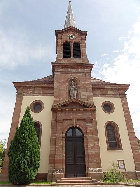 Photo du Monument Historique Eglise catholique Saint-Léger situé à Kogenheim