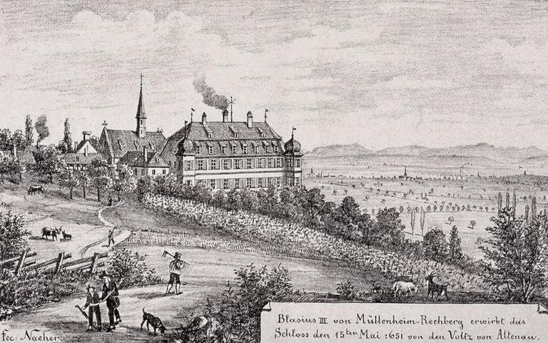 Photo du Monument Historique Domaine du château de Kolbsheim (également sur commune de Ernolsheim-sur-Bruche) situé à Ernolsheim-sur-Bruche ; Kolbsheim
