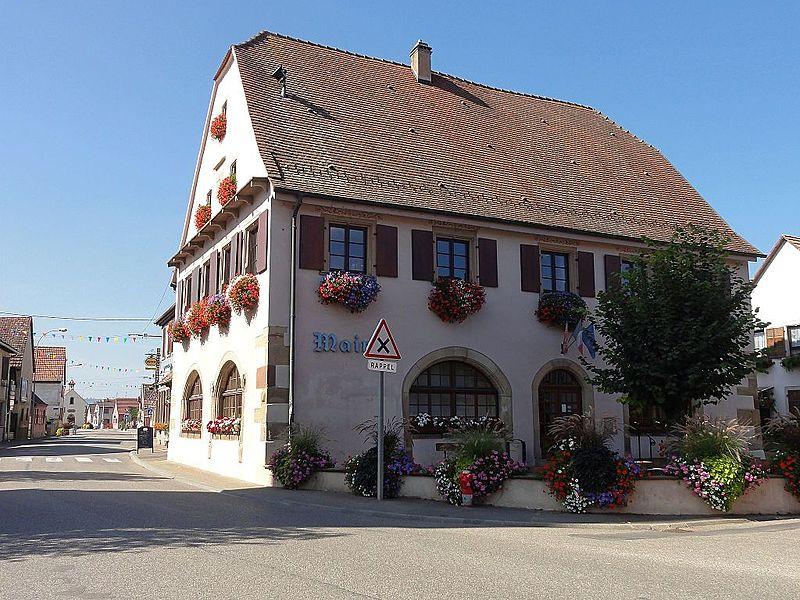 Photo du Monument Historique Ancienne mairie dite Laube situé à Krautergersheim