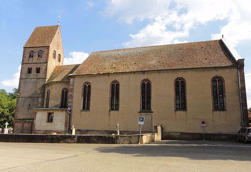 Photo du Monument Historique Eglise catholique Saint-Jacques-le-majeur situé à Kuttolsheim