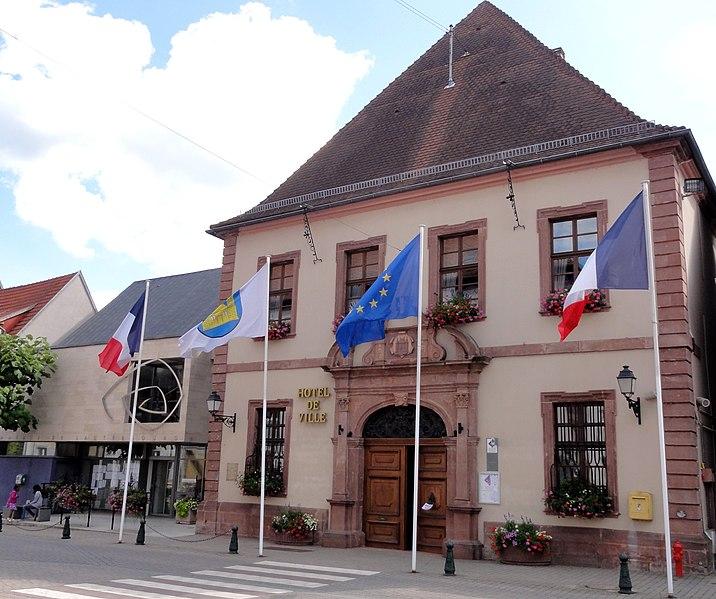 Photo du Monument Historique Hotel de ville situé à Lauterbourg